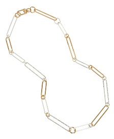 BCBGeneration Two-Tone Oval Link Long Necklace
