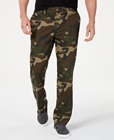 Club Room Men's Regular-Fit Stretch Camouflage Pants, Created for Macy's