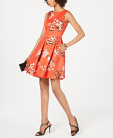 Taylor Sleeveless Floral Scuba Dress