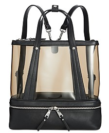 I.N.C. Clear Convertible Backpack, Created for Macy's