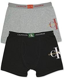 Big Boys 2-Pack Logo Boxer Briefs