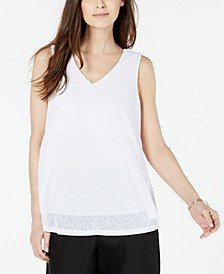 Petite Layered-Look V-Neck Top, Created For Macy's