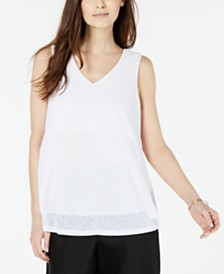 Alfani Sleeveless Layered Top, Created for Macy's