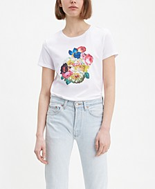 Cotton The Perfect Tee Floral Graphic T-Shirt