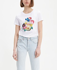 Levi's® Cotton The Perfect Tee Floral Graphic T-Shirt