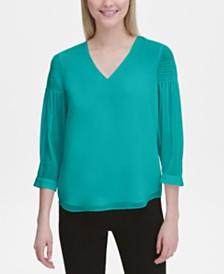 Calvin Klein 3/4-Sleeve V-Neck Top