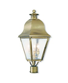 CLOSEOUT!   Amwell 3-Light Outdoor Post Lantern