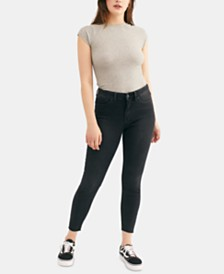 Free People Destroyed Curvy-Fit Raw-Hem Jeans