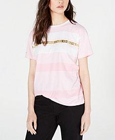 Superdry Striped Metallic-Graphic Cotton T-Shirt