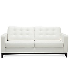 "Sivri 79"" Leather Sofa"