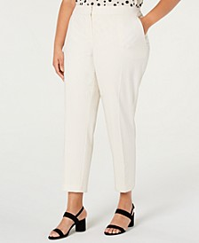 Trendy Plus Size Straight-Leg Pant, Created for Macy's