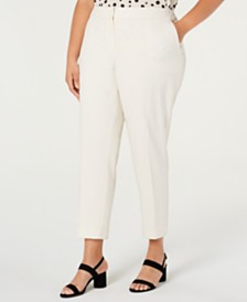 Bar III  Plus Size Straight-Leg Pant, Created for Macy's
