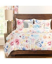Polka Dot Poppies 6 Piece Full Size Luxury Duvet Set