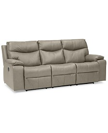 "Ronse 88"" Leather Power Recliner Sofa"
