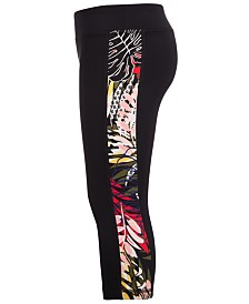 Ideology Little Girls Printed Side Insert Leggings, Created for Macy's