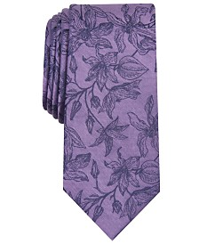 Bar III Men's Richmond Skinny Floral Tie, Created for Macy's
