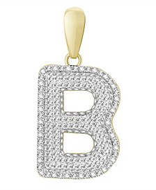 Diamond (3/8 ct.t.w.) Initial Pendant in 14k Yellow Gold
