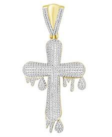 Men's Diamond (1 ct.t.w.) Cross Pendant in 10k Yellow Gold