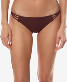 O'Neill Juniors' Salt Water Solids Strappy Hipster Bikini Bottoms