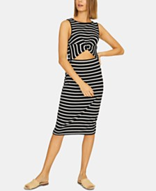 Sanctuary Essentials Striped Cut-Out Dress