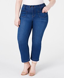 Seven7 Jeans Trendy Plus Size Patch-Pocket Bootcut Jeans