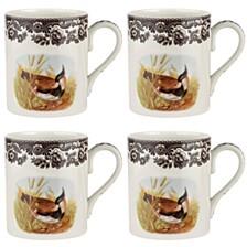 Woodland  Lapwing Mug Set/4