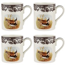 Spode Woodland  Lapwing Mug Set/4