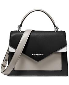 MICHAEL Michael Kors Ludlow Colorblocked Leather Satchel