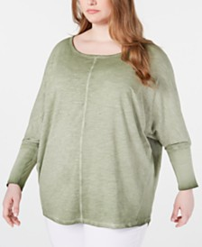 Seven7 Jeans Trendy Plus Size Cotton Dolman Top