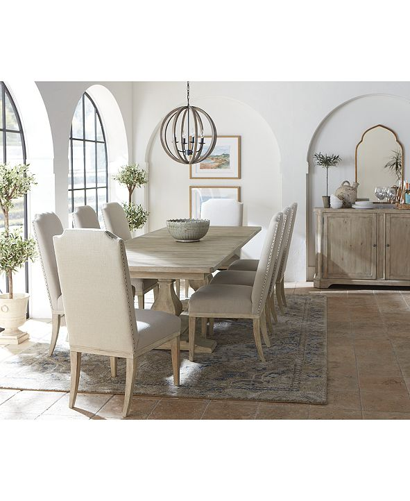 Furniture Rachael Ray Monteverdi Dining Furniture, 9-Pc. Set (Table & 8 Upholstered Side Chairs)