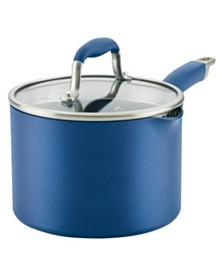 Anolon Advanced Home Hard-Anodized 3-Qt. Nonstick Straining Saucepan