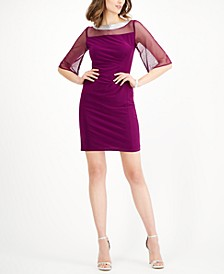 Embellished Illusion Sheath Dress