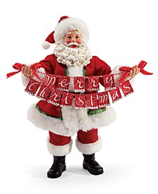 Possible Dreams Santa Banner Christmas Figurine