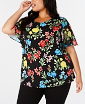 501ddd965efe Calvin Klein Plus Size Clothing - Dresses & Tops - Macy's