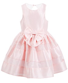 Little Girls Bow-Front Dress