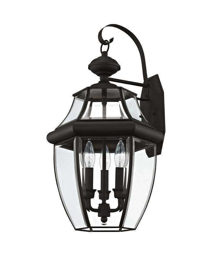 Livex - Monterey 3-Light Outdoor Classic Color Wall Lantern