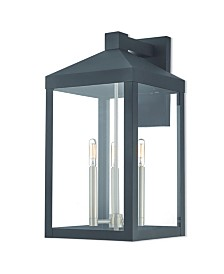 "Livex Nyack 3-Light 21.5"" Outdoor Wall Lantern"
