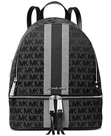 Signature Stripe Rhea Backpack