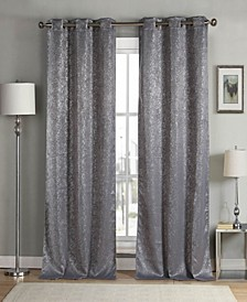 "Maddie 38"" x 84"" Metallic Blackout Curtain Set"