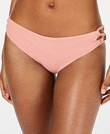Juniors' Beach Classics Lace-Up Bikini Bottoms
