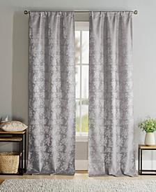 """Brienna 38"""" x 96"""" Floral Curtain Set"""