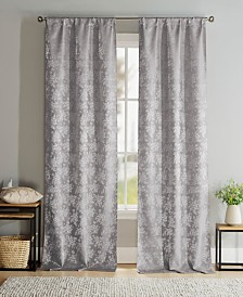 "Brienna 38"" x 96"" Floral Curtain Set"
