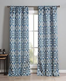 "Vivyan 37"" x 84"" Printed Curtain Set"