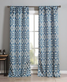 "Vivyan 37"" x 84"" Printed Curtain Set"