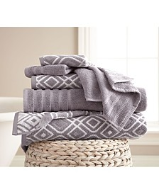 6-Piece Yarn Dyed Towel Set Oxford