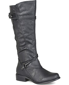 Journee Collection Women's Extra Wide Calf Harley Boot