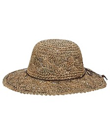 Hand-Crocheted Seagrass Floppy Hat