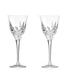 DaVinci Cetona Collection Red White Goblet -Set of 2