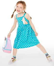 Epic Threads Little Girls Dot-Print Bird Dress, Created for Macy's