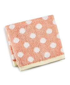 Martha Stewart Collection Cotton Dot Spa Fashion Wash Towel, Created for Macy's